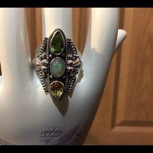 Multi-gem 925 ring